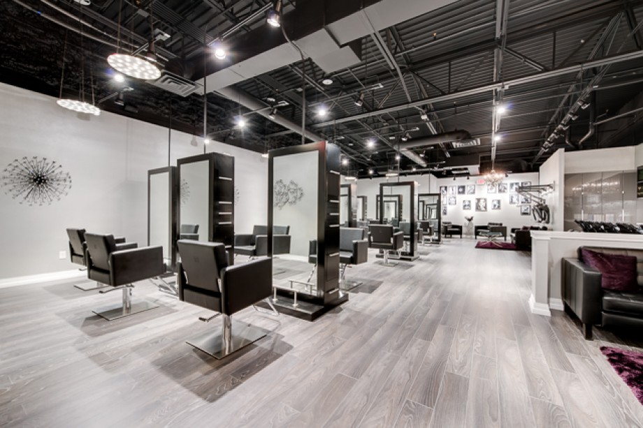 Beauty hair salon modern luxe salon in frisco tx for Modern salon stations
