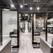 Modern LUXE Salon Hair Salon Frisco Texas Hair Stylist Stations