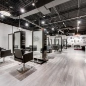 Modern LUXE Salon Hair Salon Frisco Texas Salon Floor